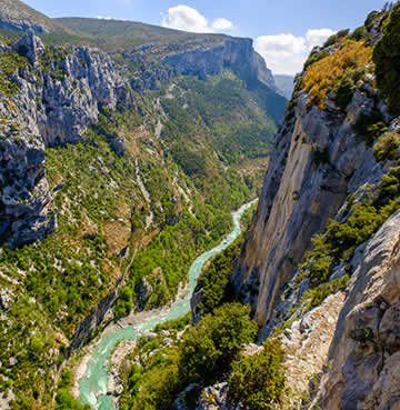 Dramatic scenery at Verdon Gorge