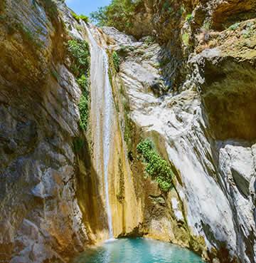 Dimossari Waterfalls, Lefkas