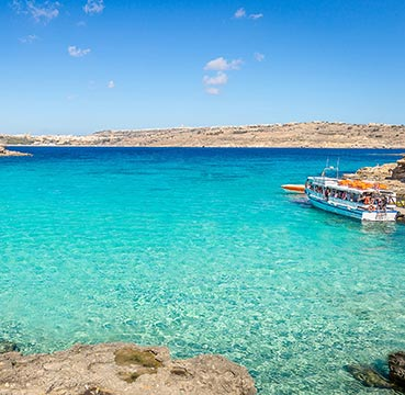 The famous azure waters of the Blue Lagoon.