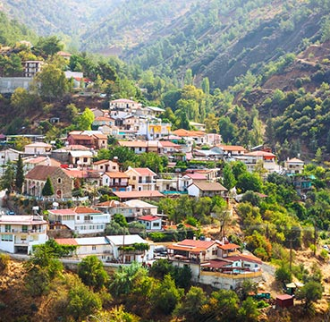 View of a traditional Cypriot village