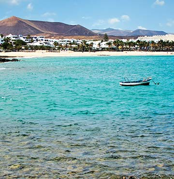 View of Playa de las Cucharas beach from the sea