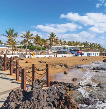 Golden beach in Puerto del Carmen, Lanzarote