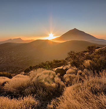 Sunrise over Mount Teide in Tenerife