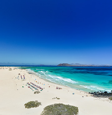 A beach in Fuerteventura