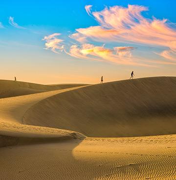 The dunes of Maspalomas in Gran Canaria