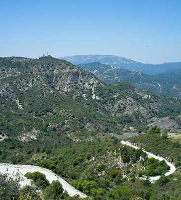 View of mountains in Cyprus
