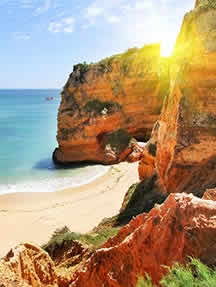 On the beach in Algarve Image