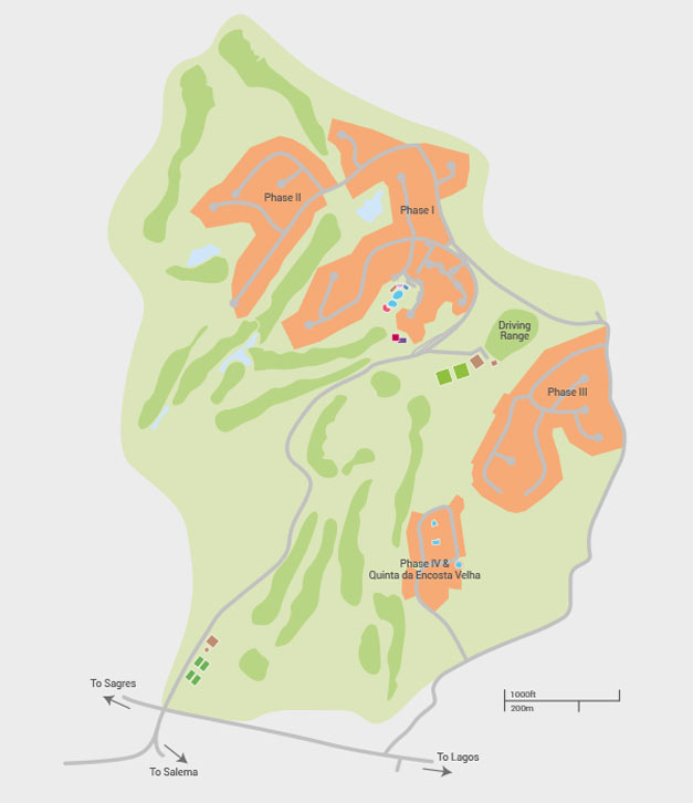 Santo Antonio Resort - resort map