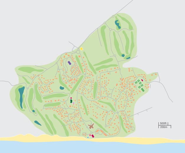 Vale do Lobo - resort map