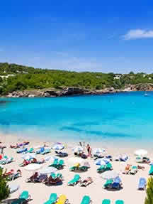 On the beach in Ibiza Image
