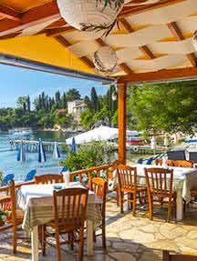 Local cuisine in Corfu Image