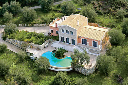 Villas In Kassiopi With Private Pool
