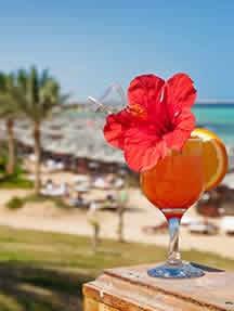 On the beach in Hurghada Image