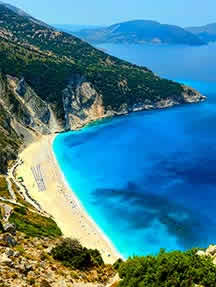 On the beach in Kefalonia Image