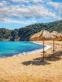 On the beach in Skiathos Image