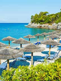 On the beach in Skopelos Image