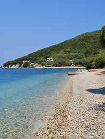 On the beach in Meganissi Image