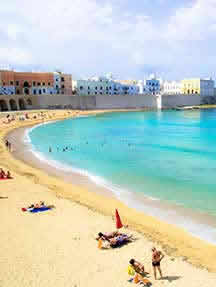 On the beach in Puglia Image