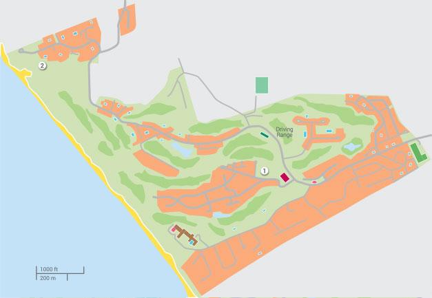 Praia Del Rey Golf Beach Resort In Silver Coast Holiday Resorts - Praia map