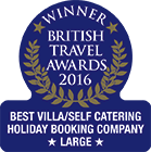 British Travel Awards 2016 - Best Large Villa/Self Catering